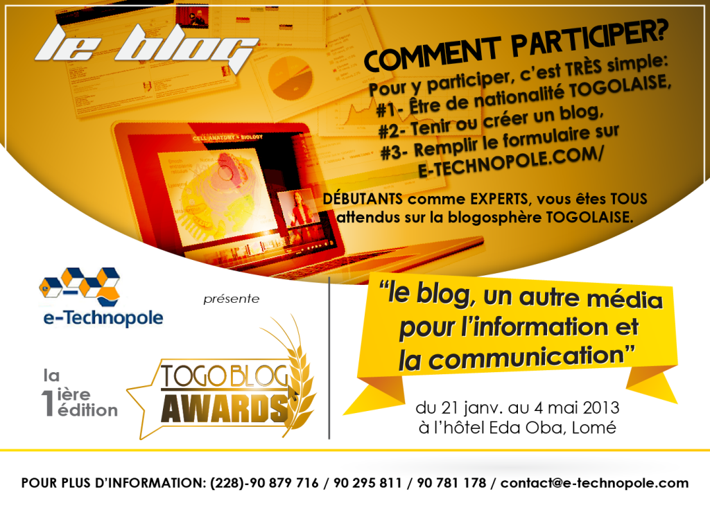 Togo Blog Awards - Affiche